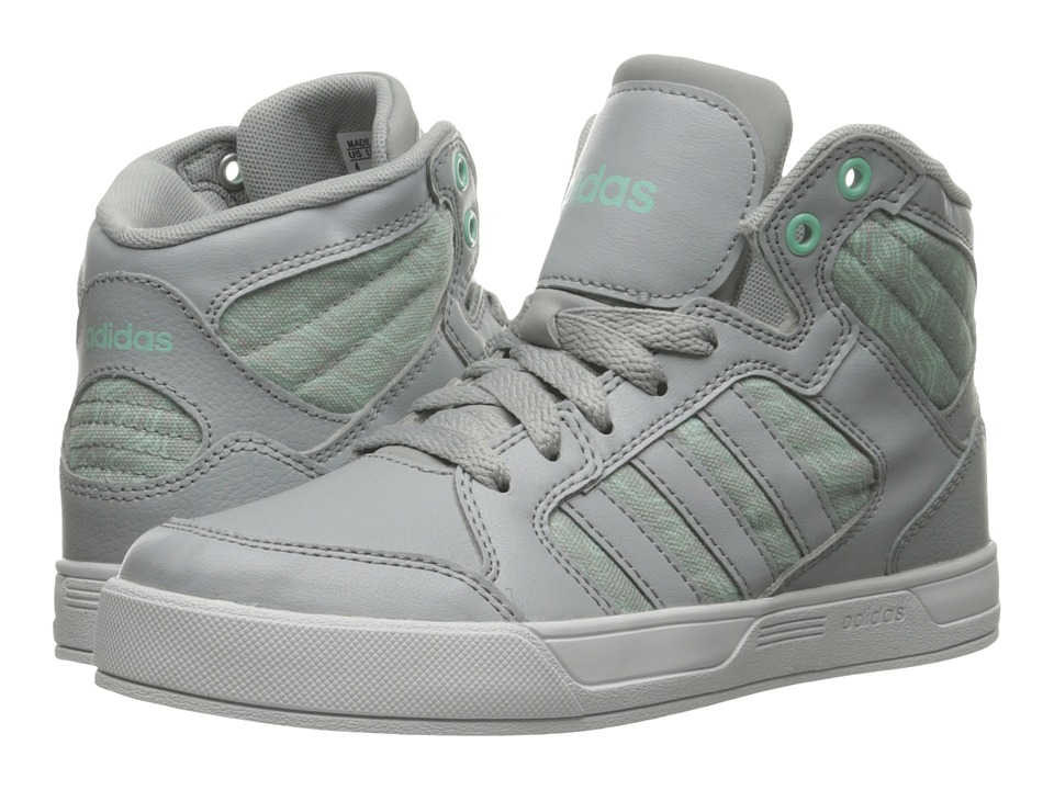 adidas Kids Raleigh Mid (Little Kid/Big Kid) (Clear Onix/Clear Onix/Running White/Ice Green) Kid