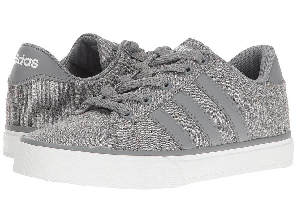 adidas Kids - Daily (Little Kid/Big Kid) (Grey/Grey/White) Boys Shoes