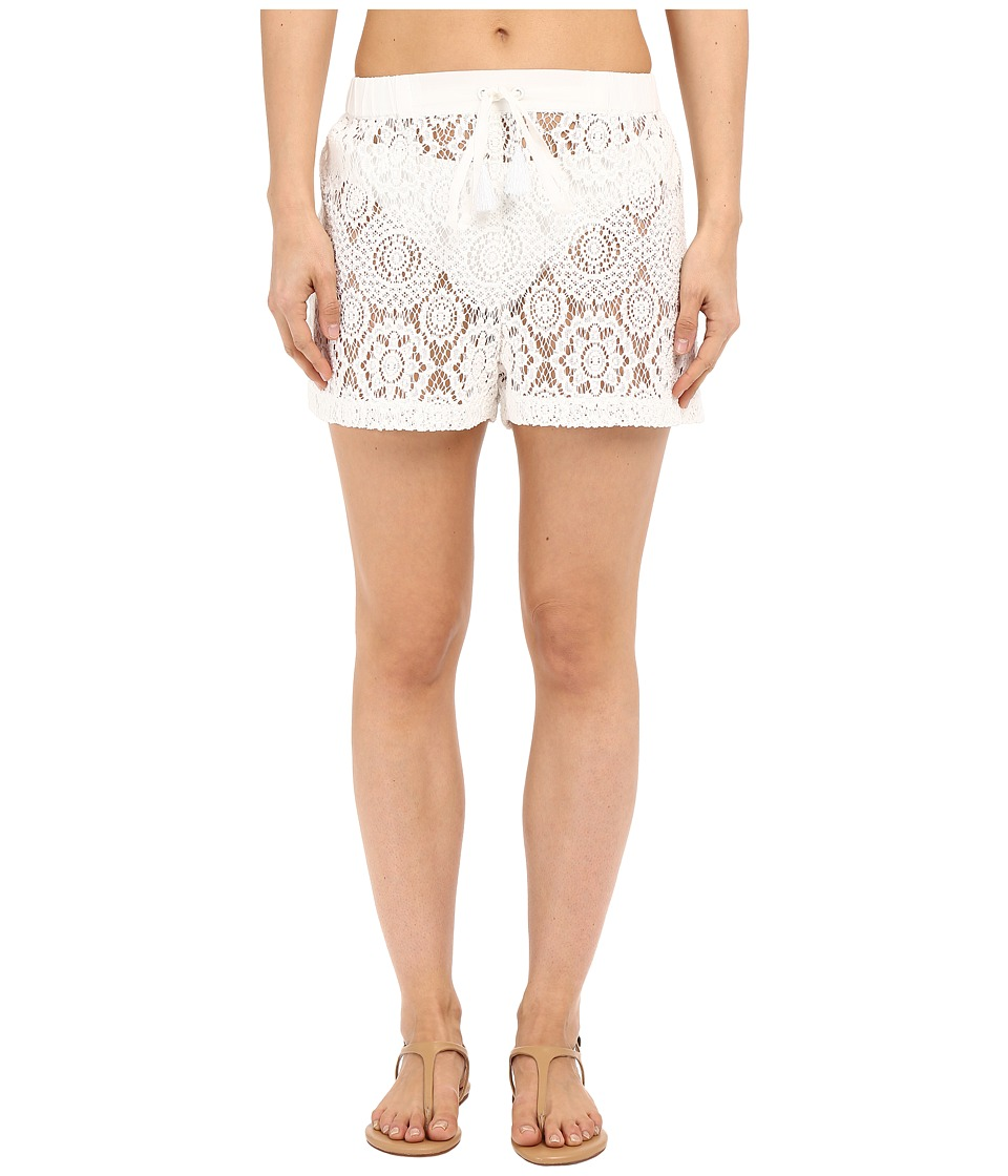 MICHAEL Michael Kors - La Vie Boheme Crochet Shorts Cover-Up (White) Women's Swimwear