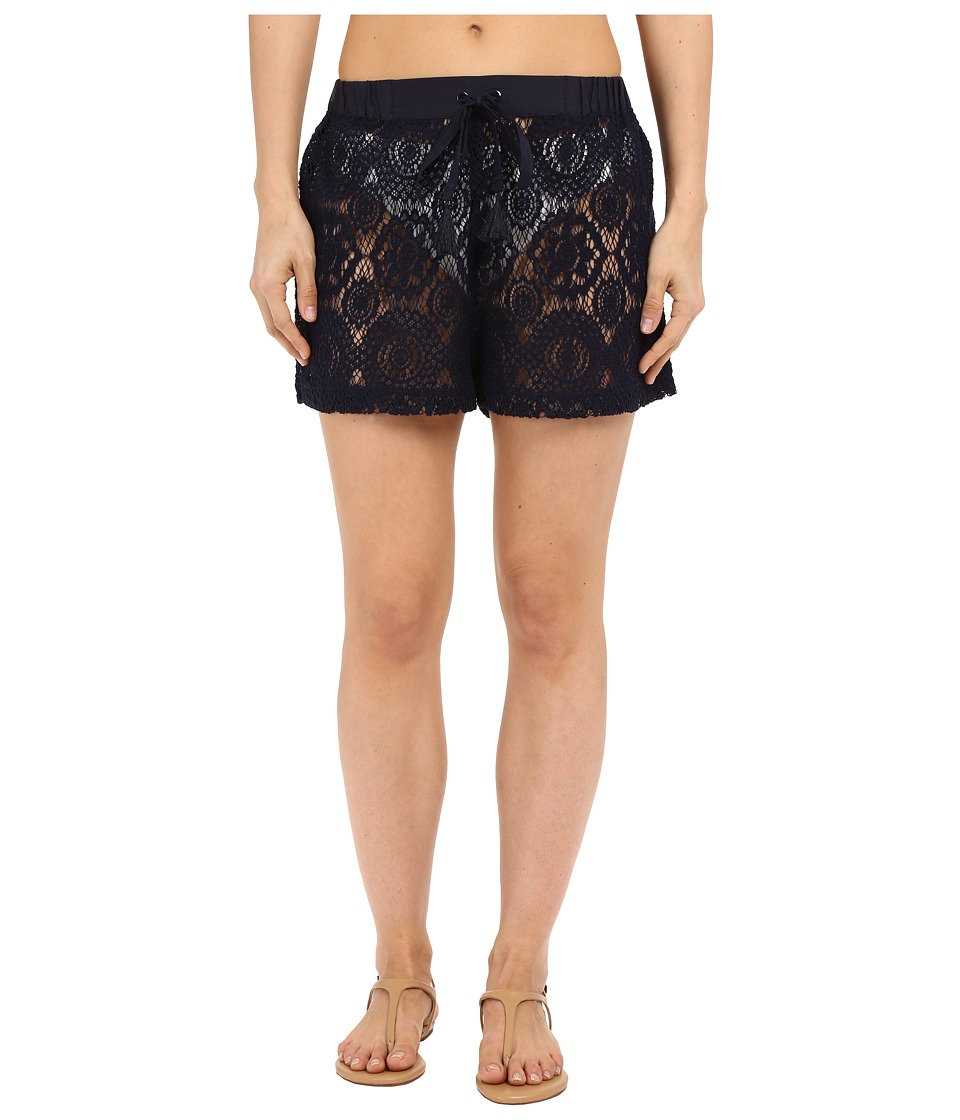 MICHAEL Michael Kors - La Vie Boheme Crochet Shorts Cover-Up (New Navy) Women's Swimwear