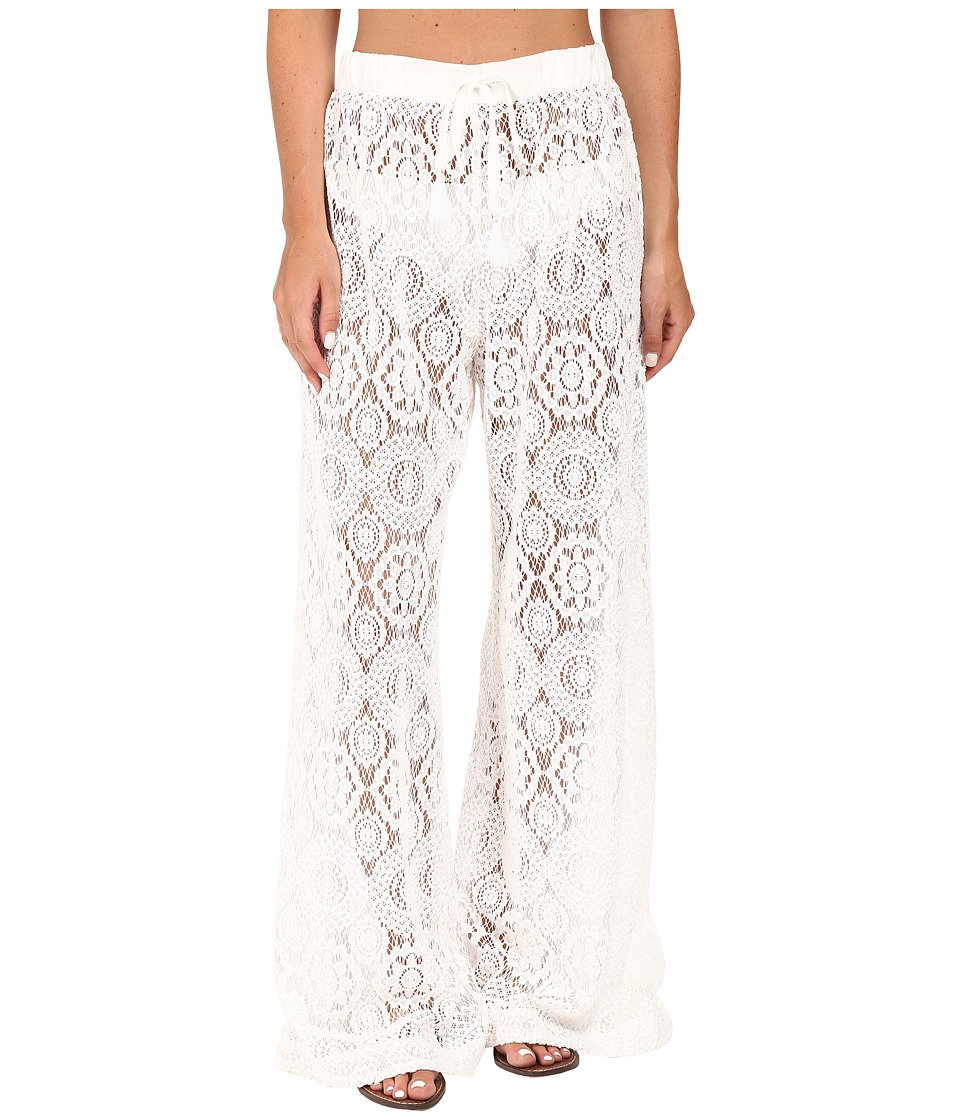 MICHAEL Michael Kors - La Vie Boheme Crochet Pants Cover-Up (White) Women's Swimwear