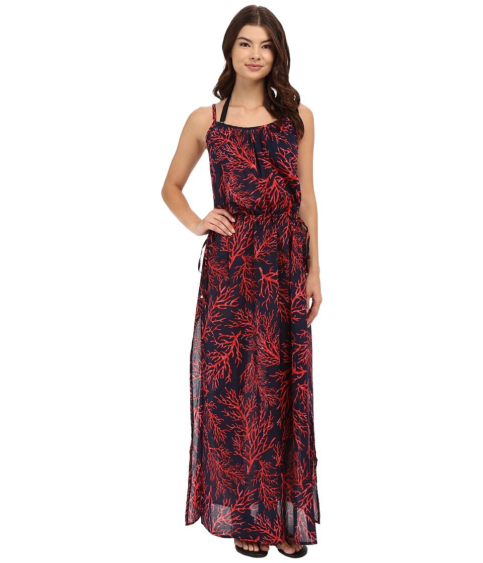 MICHAEL Michael Kors - Lantana Long Dress Cover-Up (Coral) Women's Swimwear