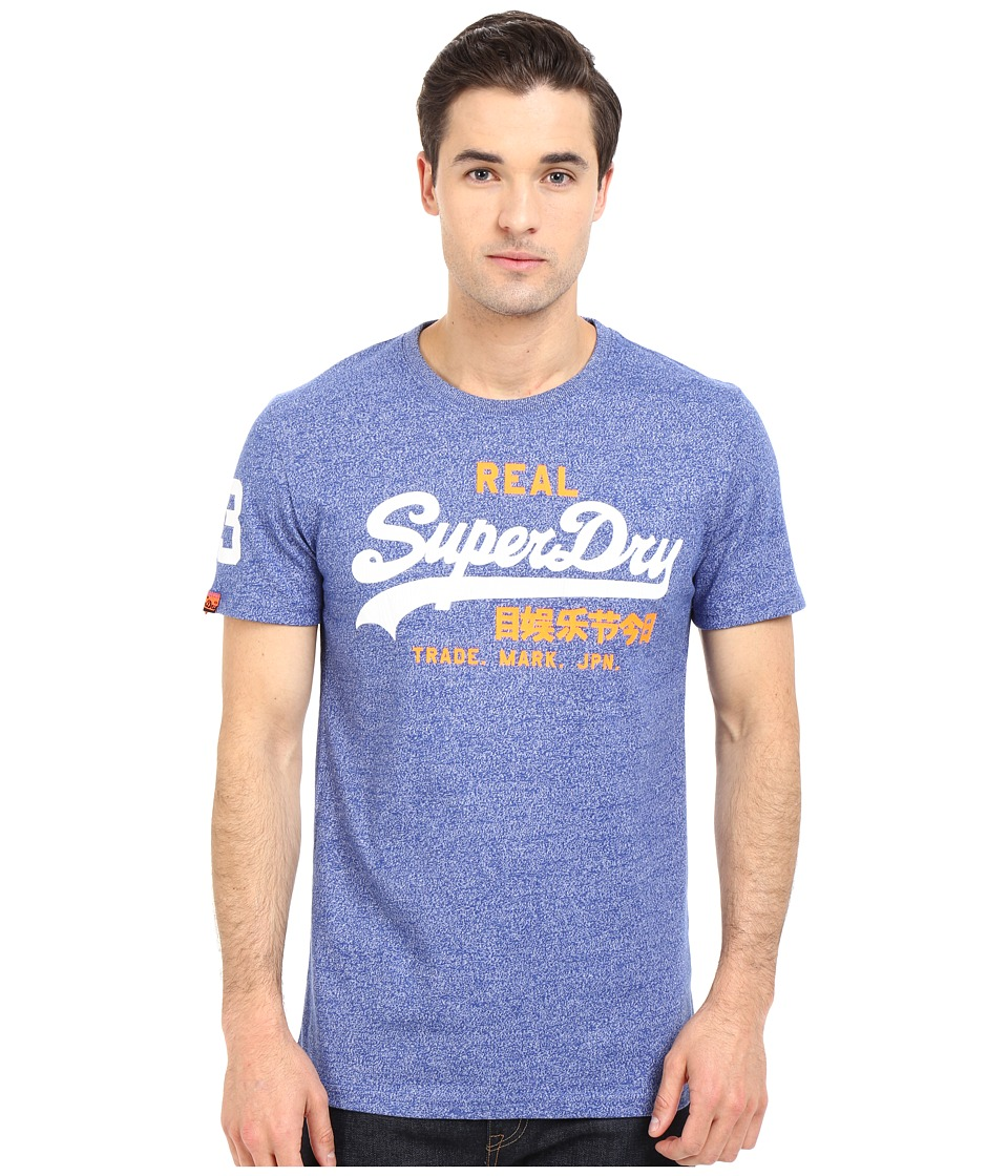 Superdry - Vintage Logo Duo Tee (Dodger Blue Grit) Men's T Shirt
