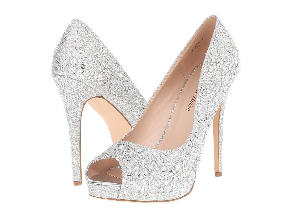 Lauren Lorraine - Elissa-2 (Silver Sparkle) High Heels