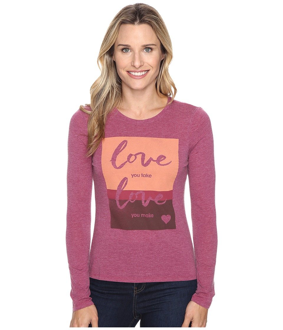Life is good - Love You Take Long Sleeve Sweet Tee (Wild Plum) Women's Long Sleeve Pullover