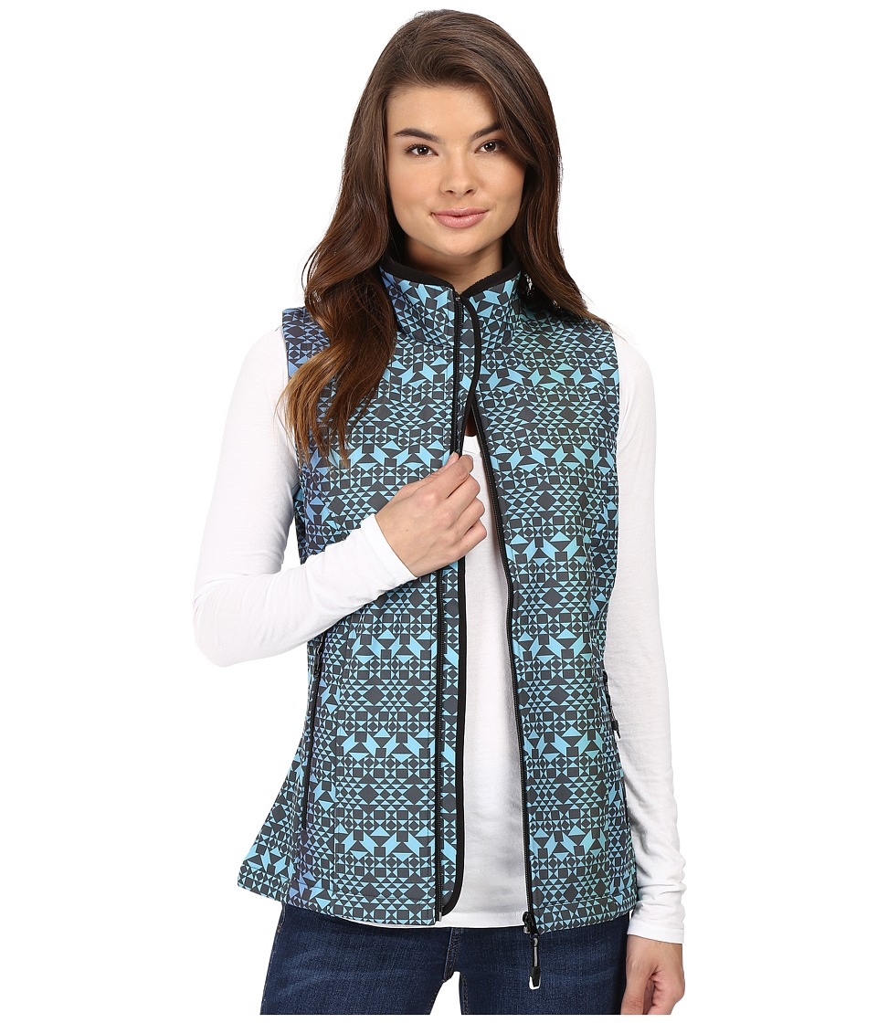 Roper - Diamond Aztec Softshell Vest (Blue) Women's Vest