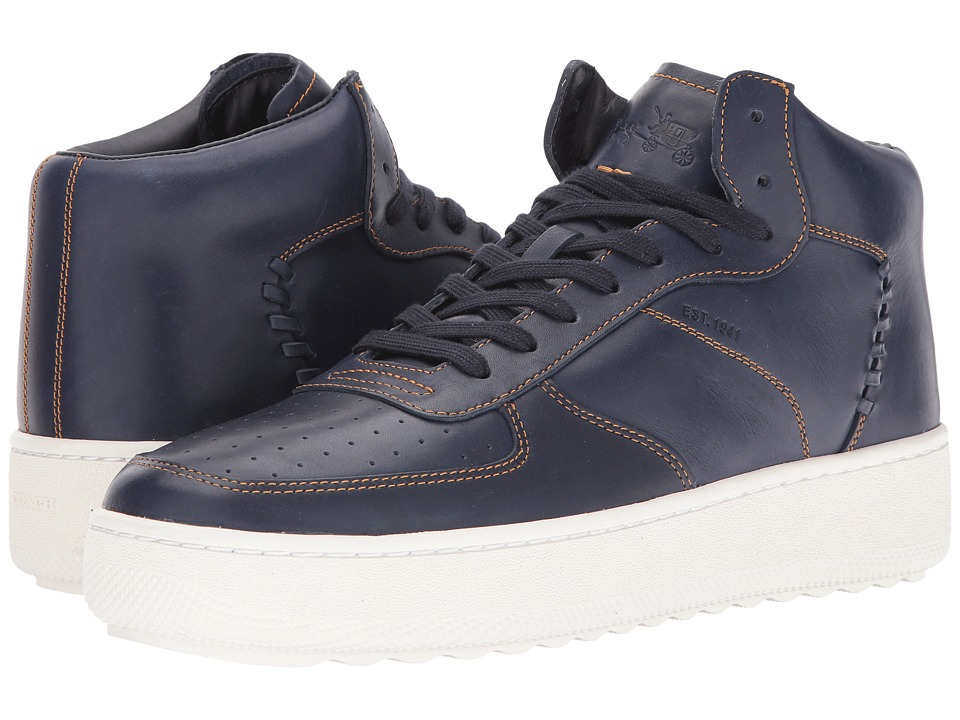 COACH - Contrast Stitch C210 (Navy) Men's Shoes