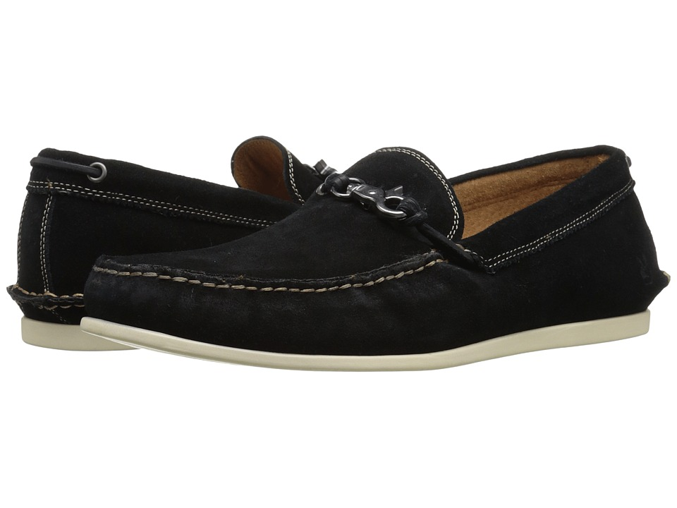 John Varvatos - Star Boater Dog Clip (Black) Men's Shoes