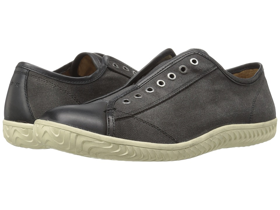 John Varvatos - Star Laceless Low Top Sneaker (Coal) Men's Shoes