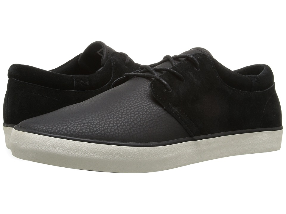 Rip Curl Patrol L (Black Coated Leather/Nubuck) Men