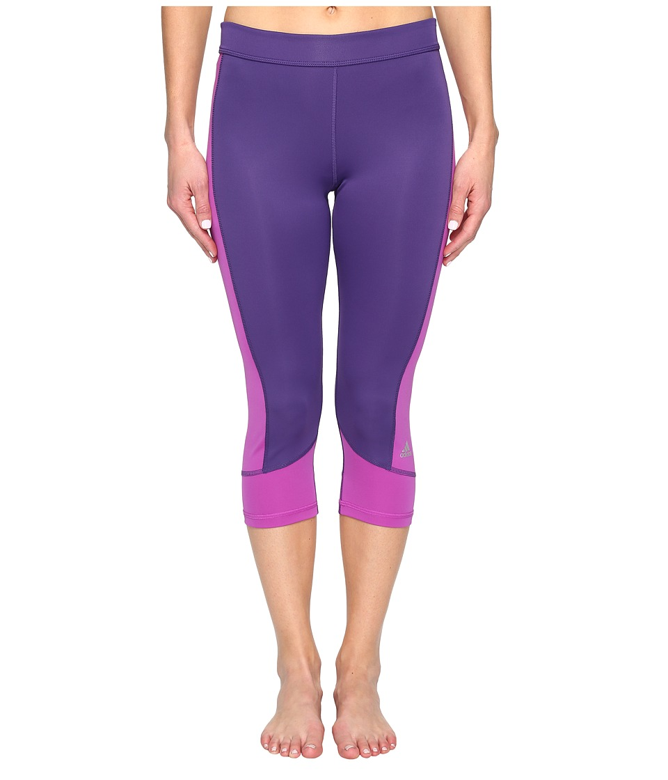 adidas - Techfit Capris (Unity Purple/Shock Purple) Women's Capri