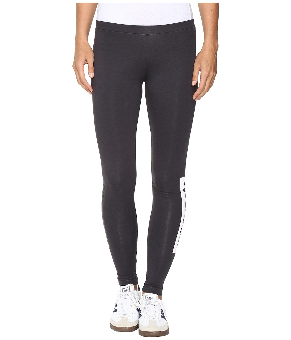 adidas Originals - Originals Leggings (Shadow Black/White/Black) Women's Workout