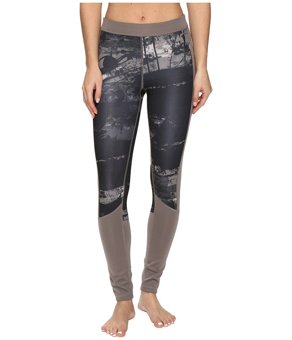 adidas - Techfit Long Tights Elemental Raw Print (Vapor Grey PL/PRINT/Matte Silver) Women's Casual Pants