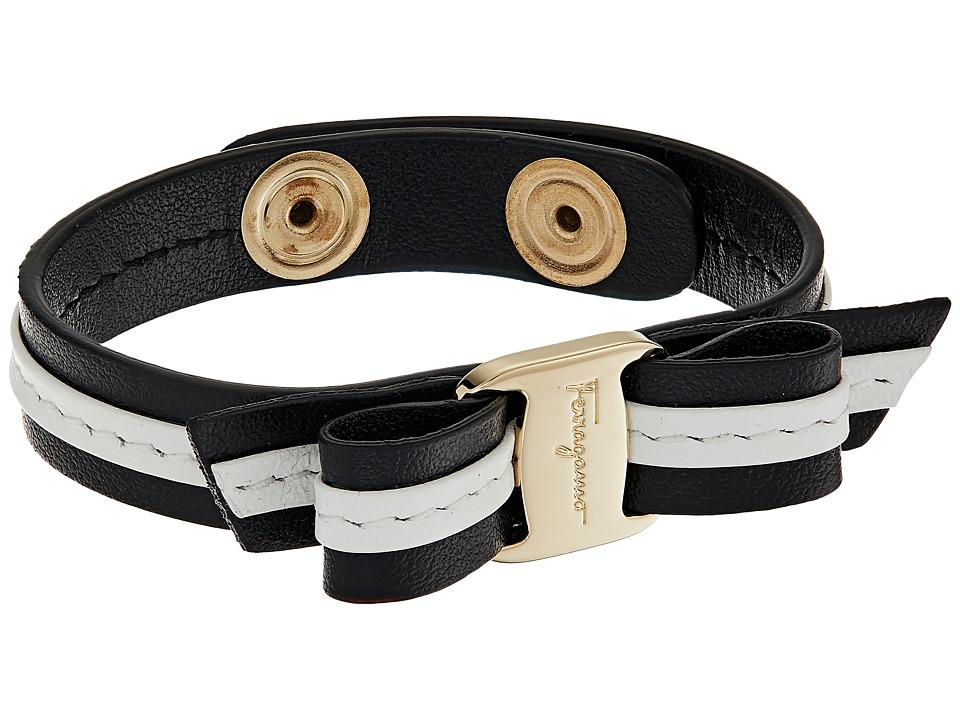 Salvatore Ferragamo - BR Vara Strap Bracelet (Nero/Ins. Bianco) Bracelet