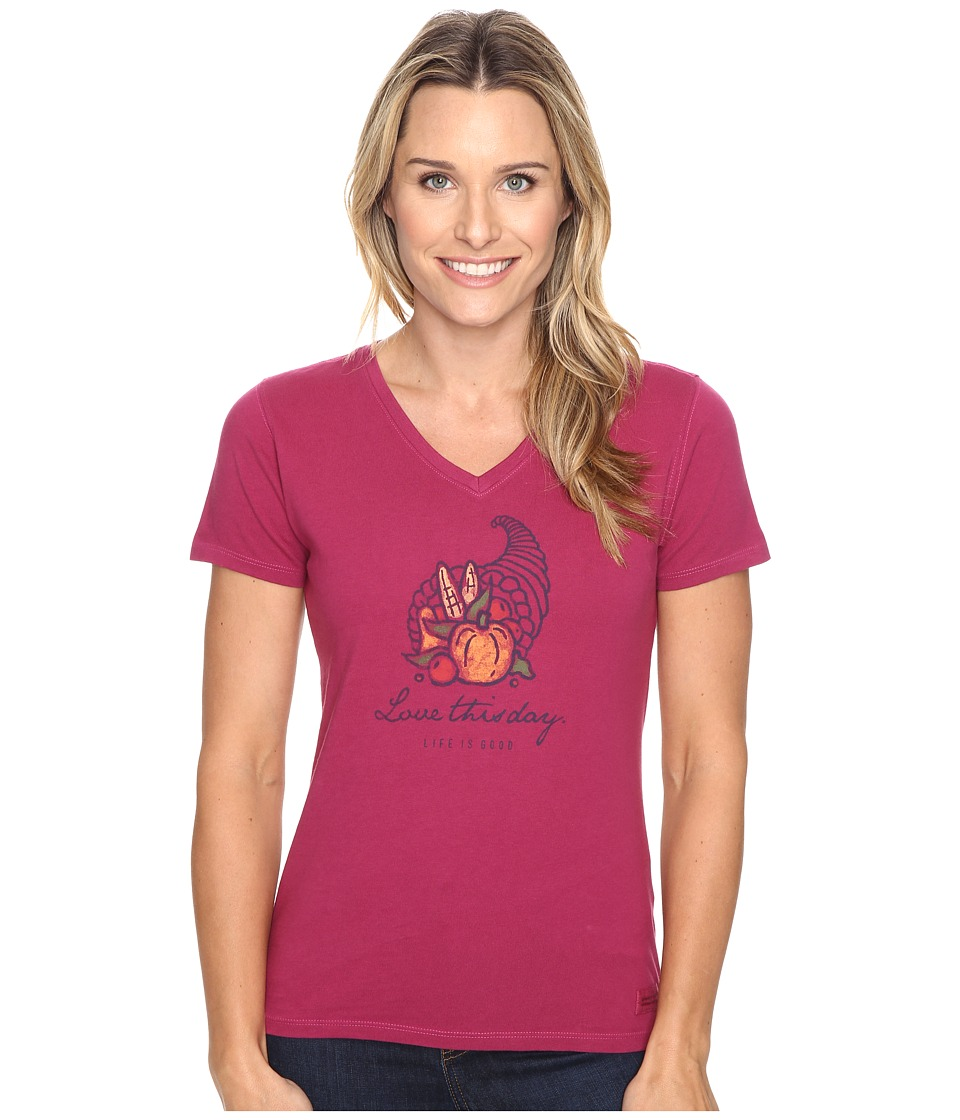 Life is good - Love This Day Cornucopia Crusher Vee (Wild Plum) Women's T Shirt
