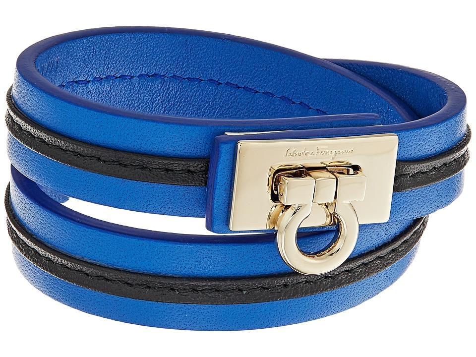 Salvatore Ferragamo - BR Gan Strap Bracelet (Blu Indien/Ins. Nero) Bracelet