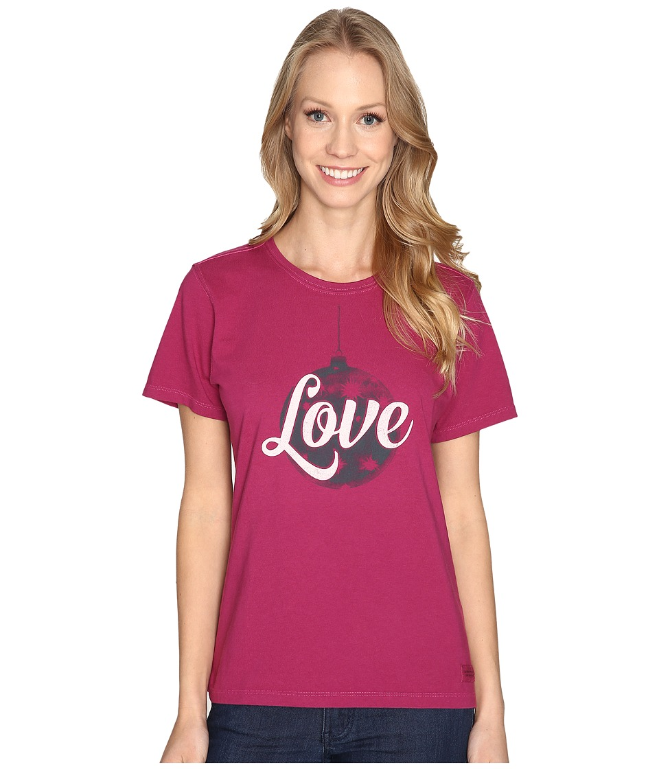 Life is Good Love Ornament Crusher Tee (Wild Plum) Women