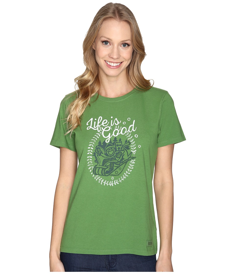 Life is good - Jake And Rocket Sled Crusher Tee (Treetop Green) Women's T Shirt