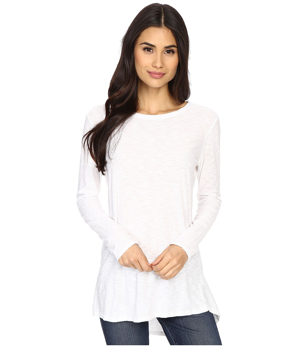 Culture Phit - Flavie Round Neck High-Low Top (White) Women's Long Sleeve Pullover
