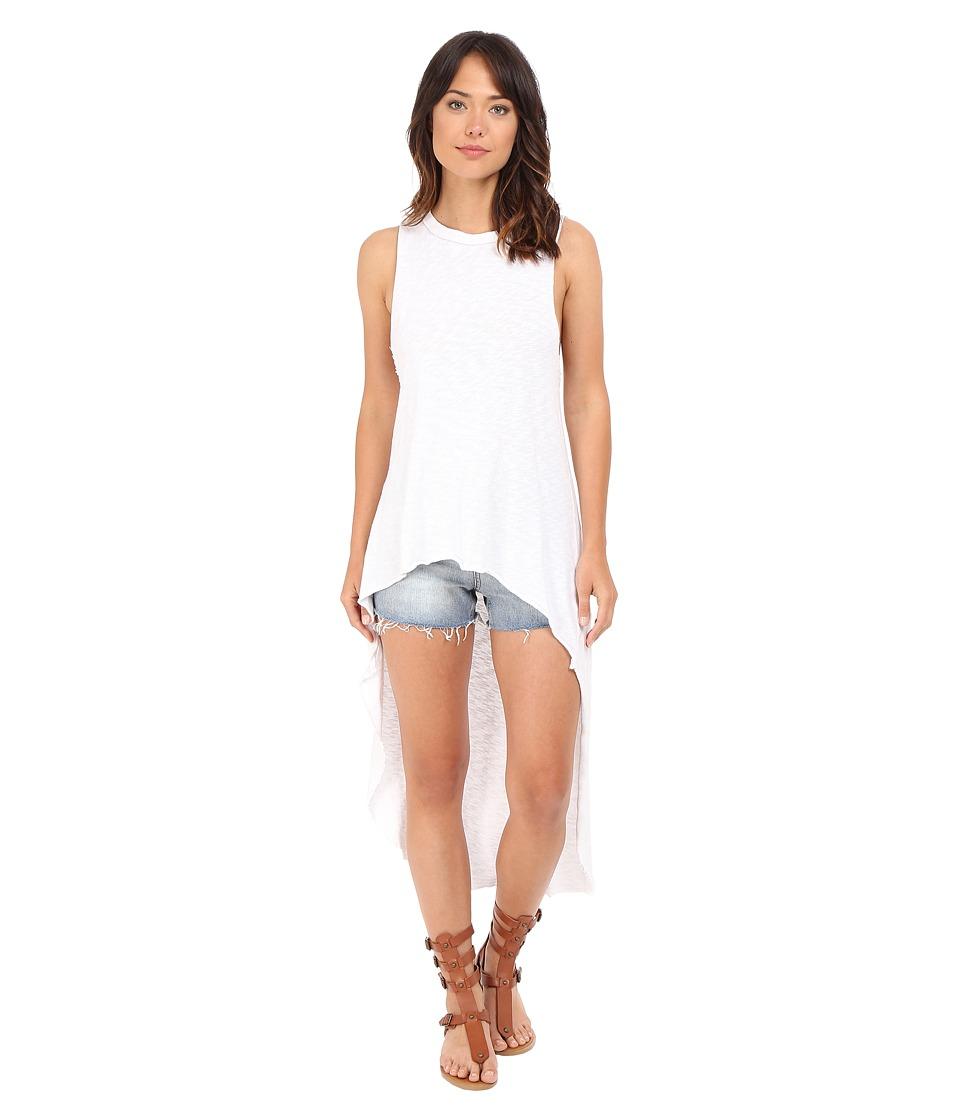 Culture Phit - Anais High-Low Tank Top (White) Women's Sleeveless