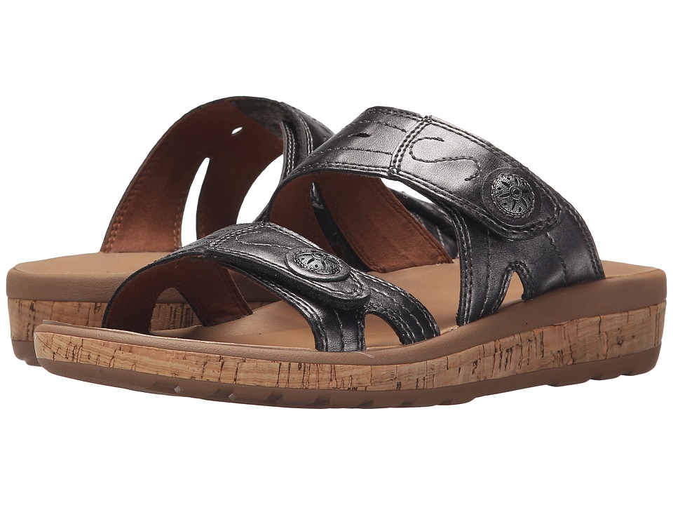 Rockport - Weekend Casuals Keona 2 Band Slide (Pewter) Women's Shoes