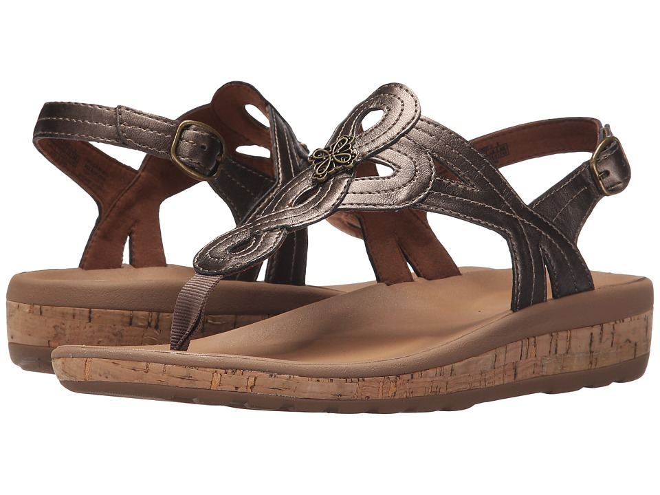 Rockport - Weekend Casuals Keona Flower T-Strap (Bronze) Women's Shoes