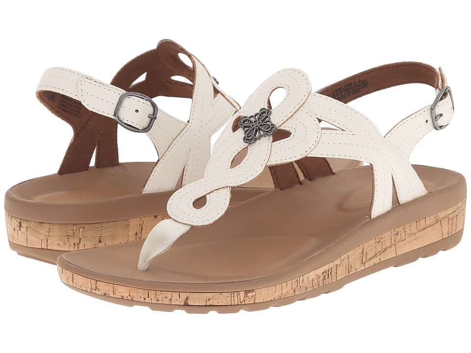 Rockport - Weekend Casuals Keona Flower T-Strap (White) Women's Shoes