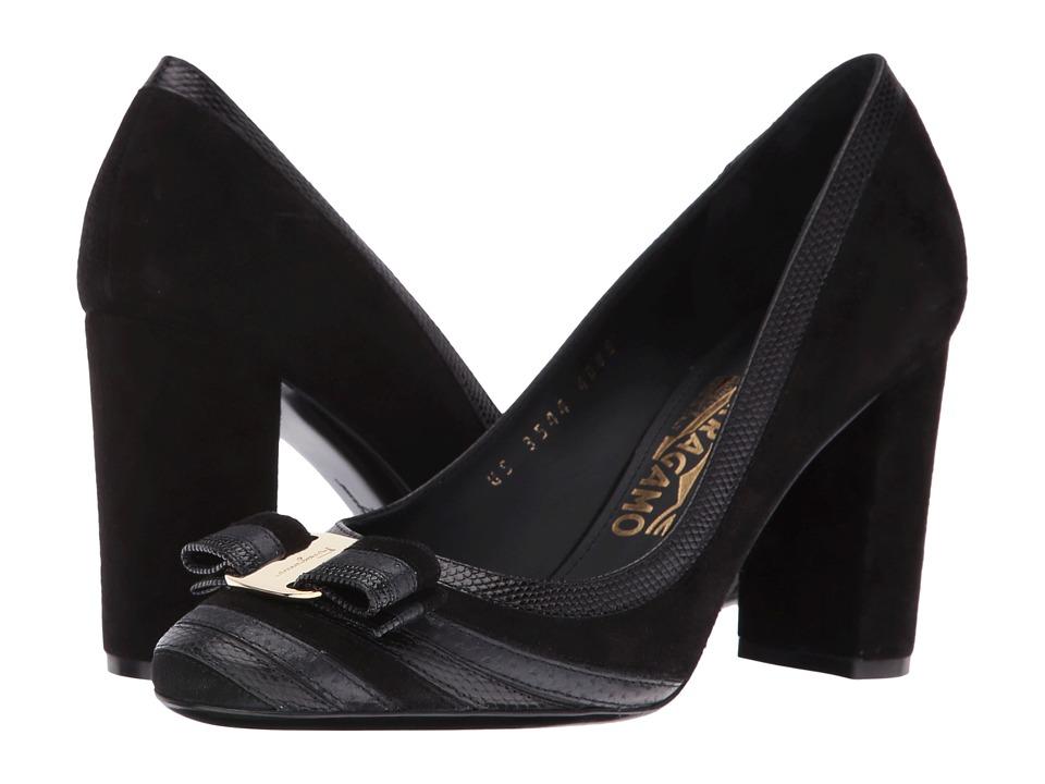 Salvatore Ferragamo Fosca 85 (Nero/Nero) High Heels