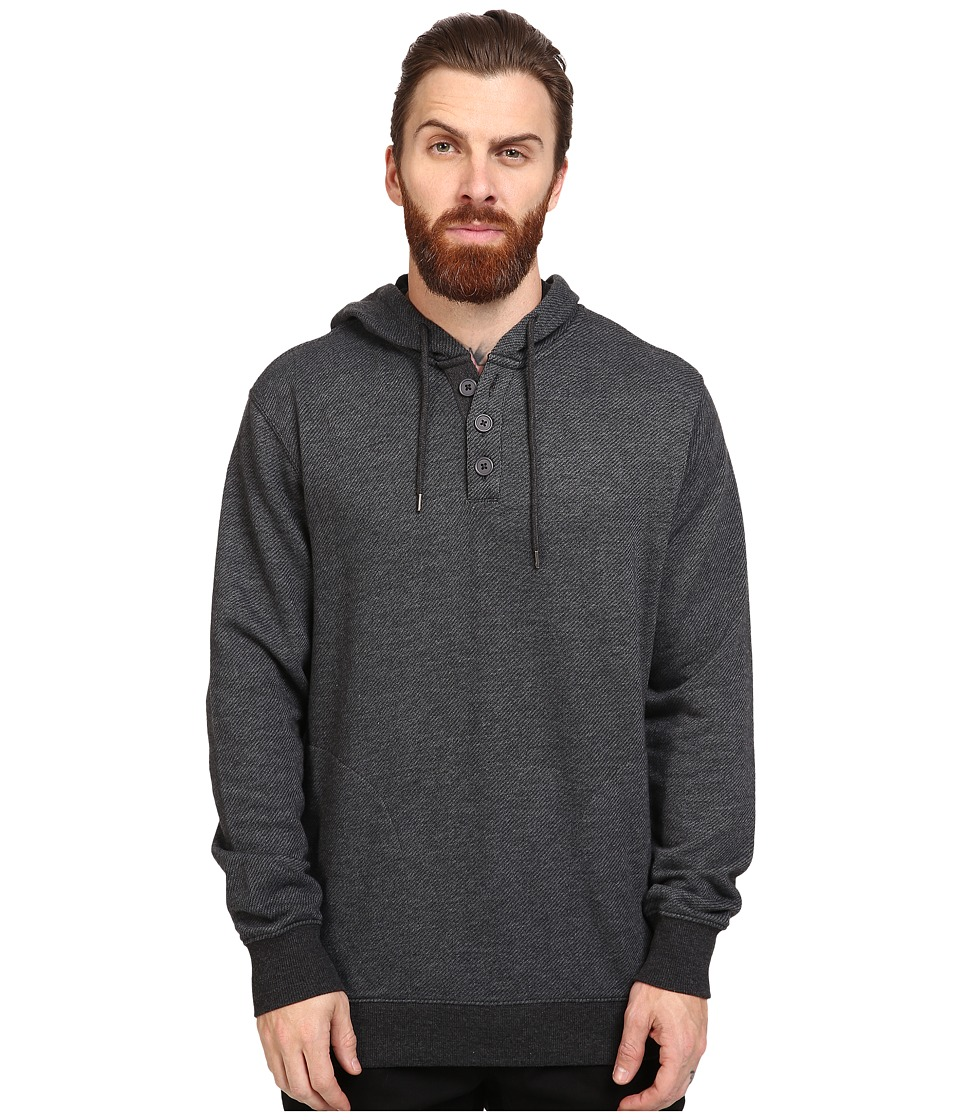 RVCA - Capo Twill Fleece (Charcoal Heather) Men's Fleece