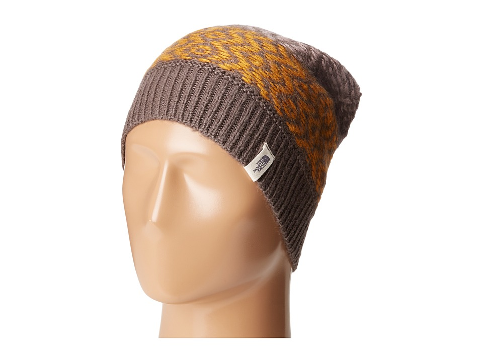 The North Face - Tribe N True Beanie (Rabbit Grey/Citrine Yellow) Beanies