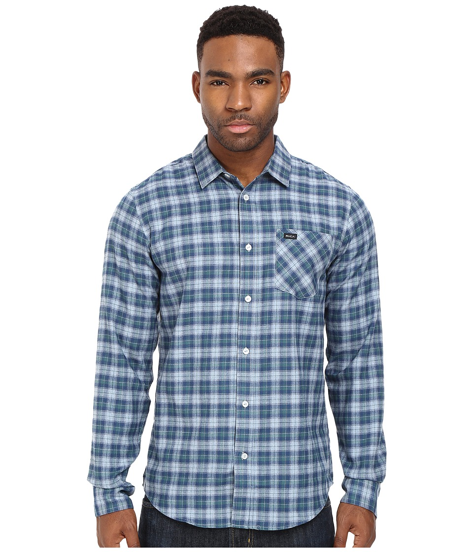 RVCA - Ventura Long Sleeve Woven (Alpine) Men's Clothing