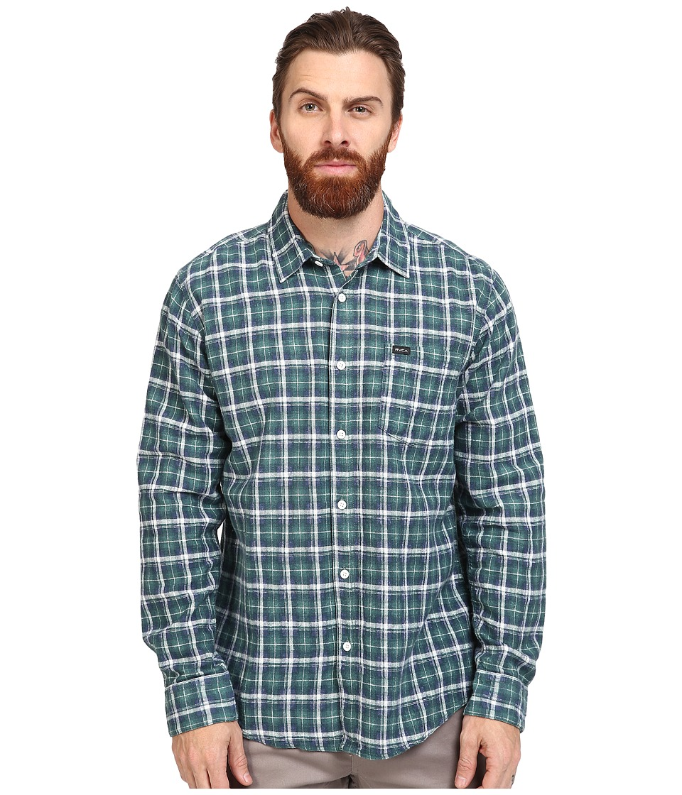 RVCA - Soon As Long Sleeve Woven (Alpine) Men's Clothing