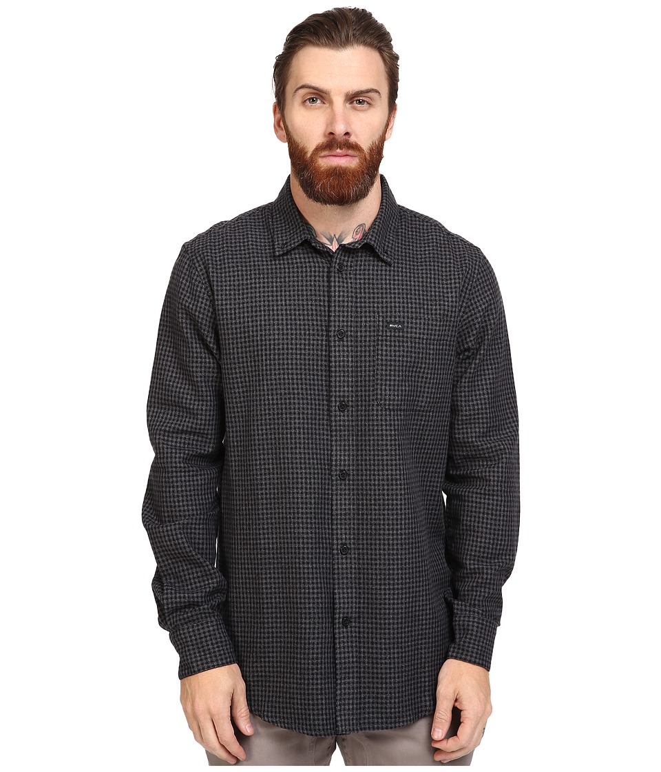 RVCA - That'll Do Twist Long Sleeve Woven (Pirate Black) Men's Clothing