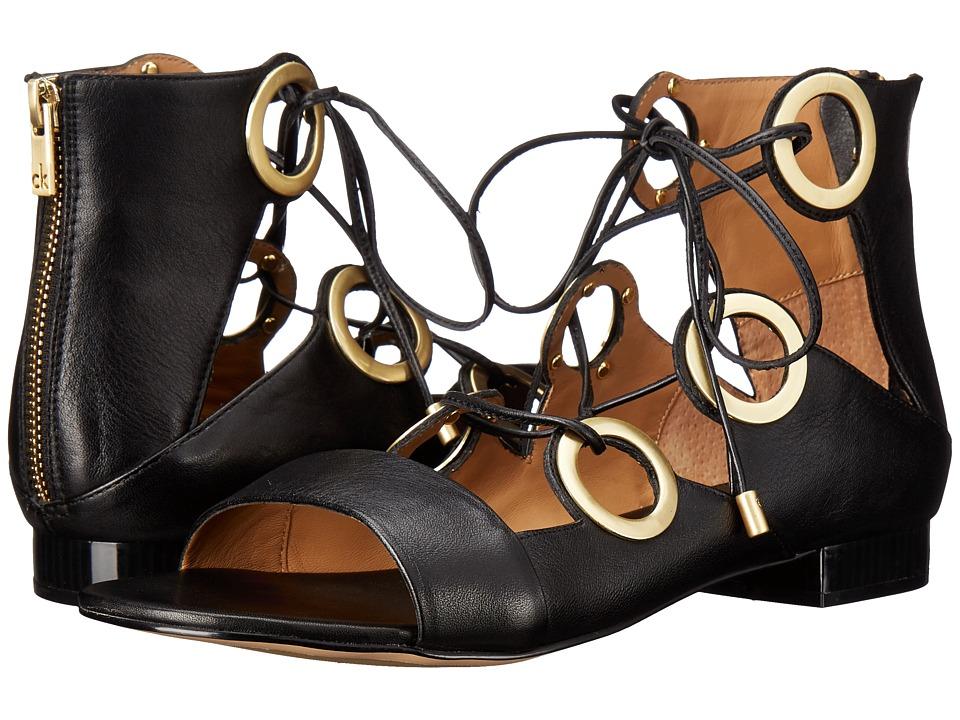 Calvin Klein Abriana (Black Leather) Women