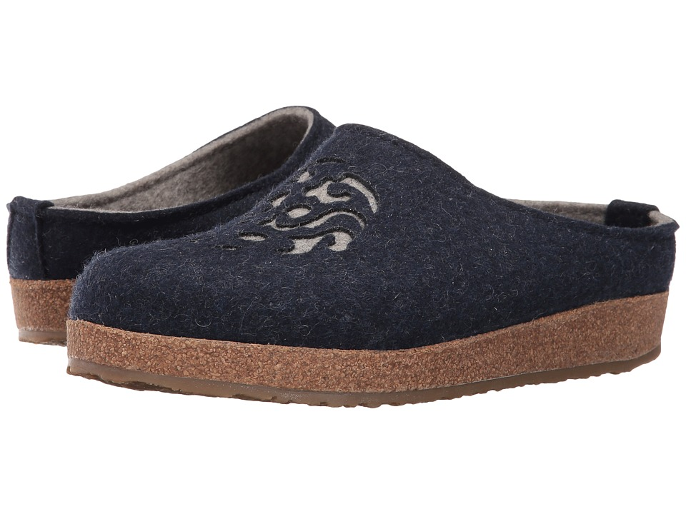 Haflinger - Dream (Captain's Blue/Silver Grey) Women's Clog Shoes