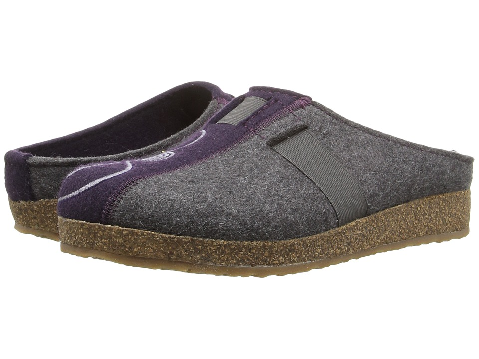 Haflinger - Magic (Grey/Eggplant) Women's Clog Shoes