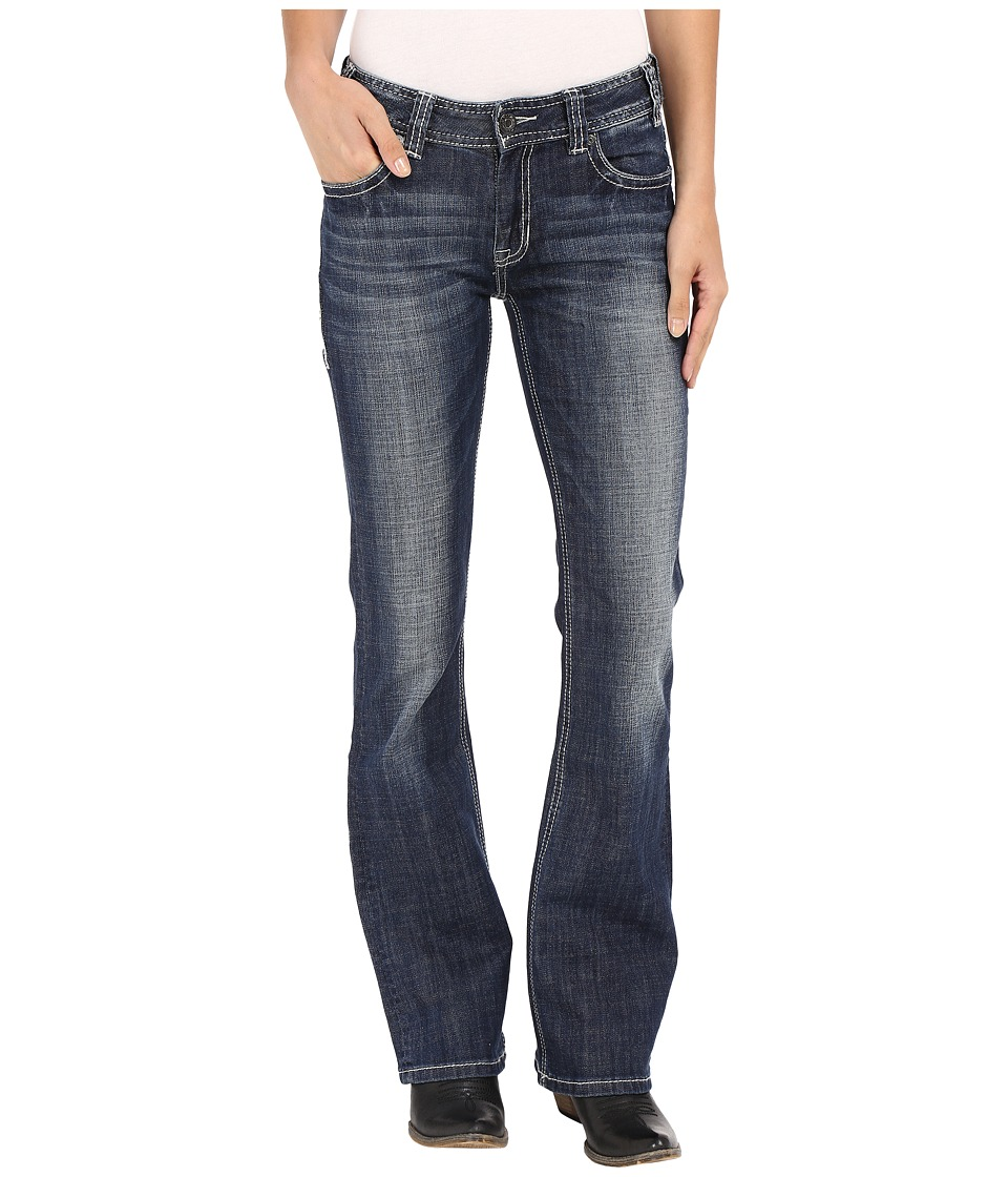 Rock and Roll Cowgirl - Mid-Rise Bootcut in Dark Vintage W1-7368 (Dark Vintage) Women's Jeans