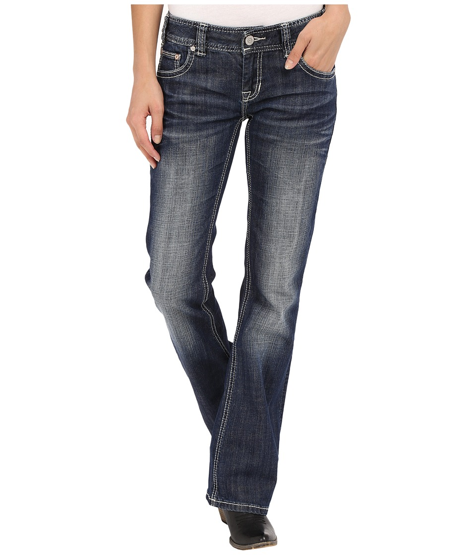 Rock and Roll Cowgirl - Low Rise Bootcut in Dark Vintage W0-7362 (Dark Vintage) Women's Jeans