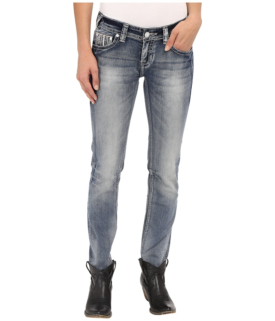 Rock and Roll Cowgirl - Low Rise Skinny in Light Vintage W0S7386 (Light Vintage) Women's Jeans