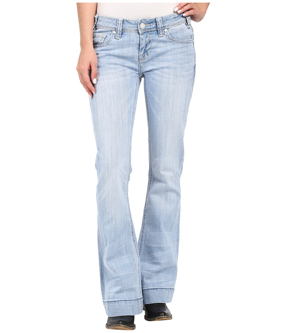 Rock and Roll Cowgirl - Trousers Low Rise in Light Wash W8-7374 (Light Wash) Women's Jeans