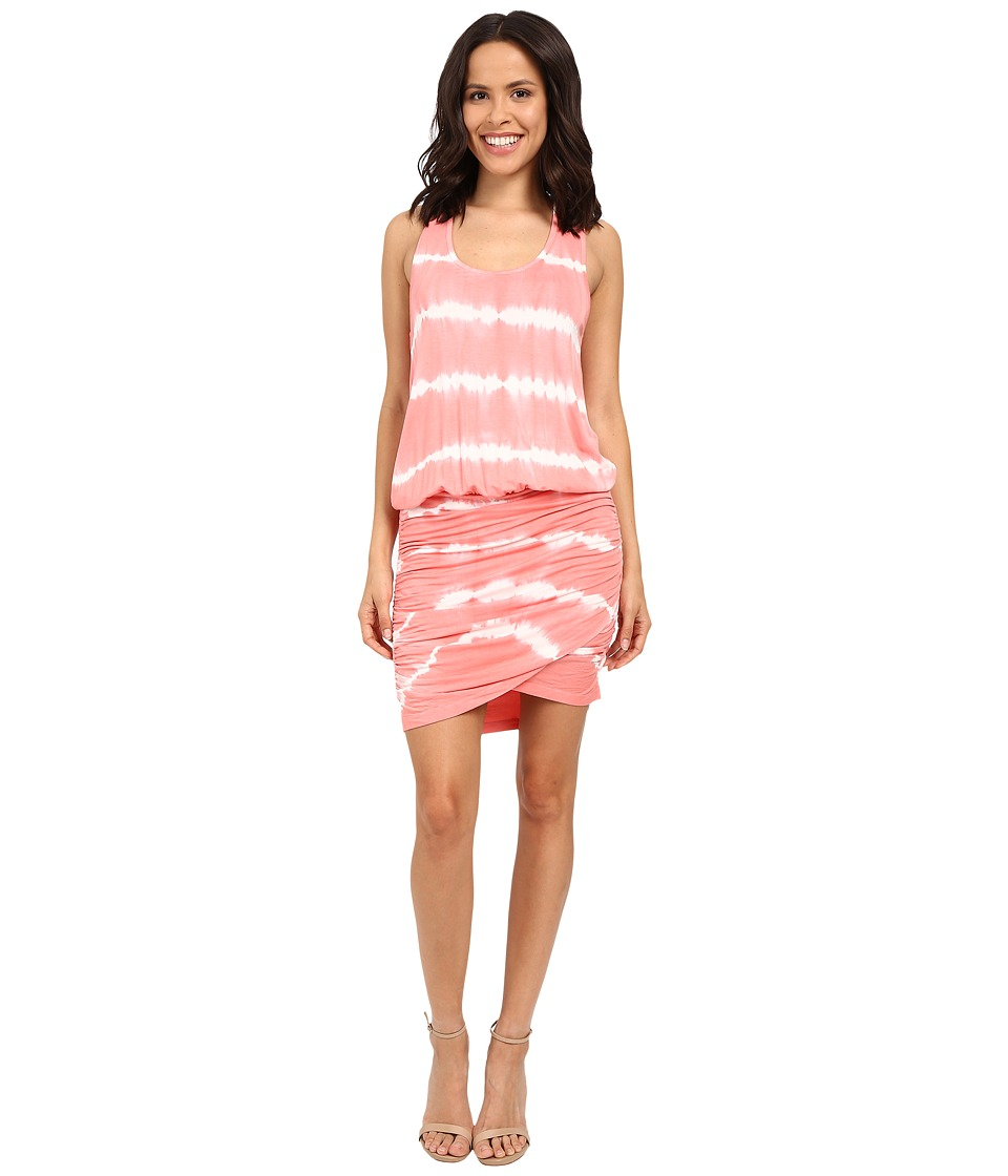 Young Fabulous & Broke - Elize Dress (Melon Skinny Stripe) Women's Dress