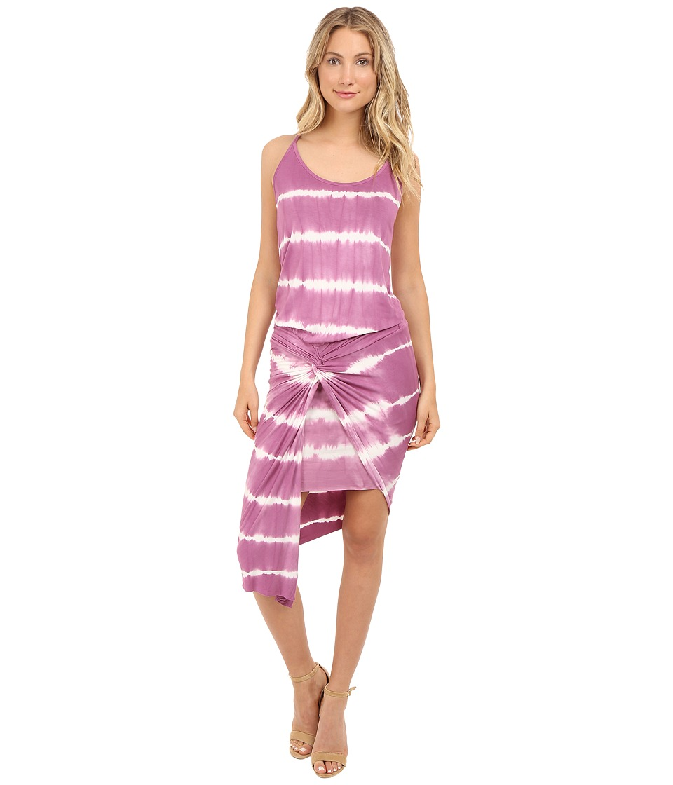 Young Fabulous & Broke - Kulani Dress (Wine Skinny Stripe) Women's Dress