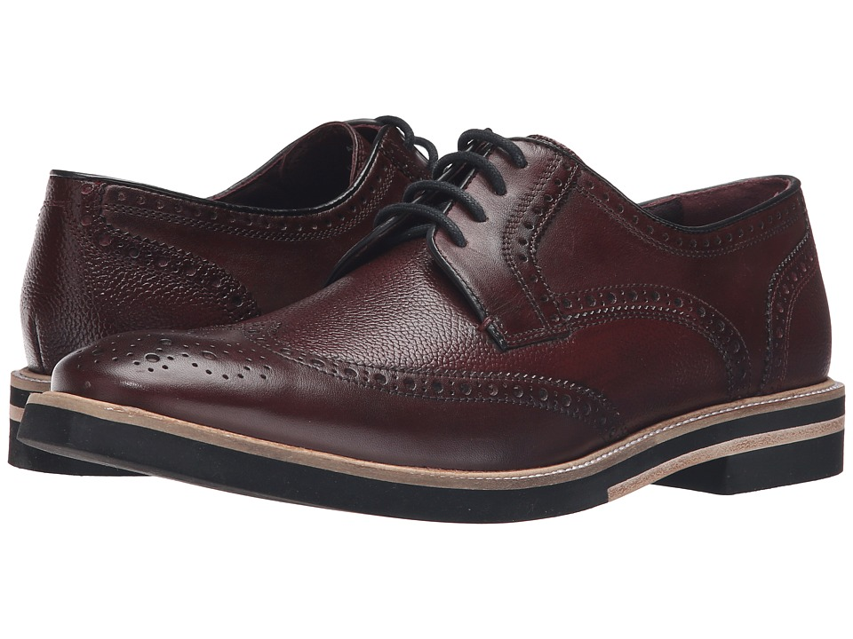 Ted Baker - Archerr 2 (Dark Red Leather) Men's Lace Up Wing Tip Shoes