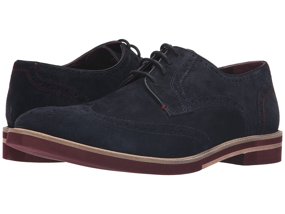 Ted Baker - Archerr 2 (Dark Blue Suede) Men's Lace Up Wing Tip Shoes