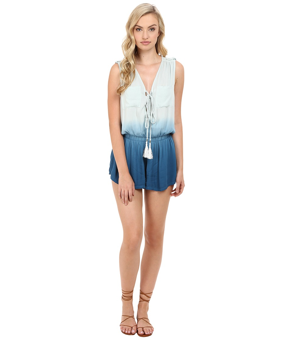 Young Fabulous & Broke - Vara Romper (Pacific Blue Ombre) Women's Jumpsuit & Rompers One Piece