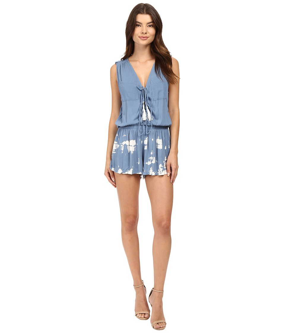 Young Fabulous & Broke - Vara Romper (Chambray Acid Drip Wash) Women's Jumpsuit & Rompers One Piece