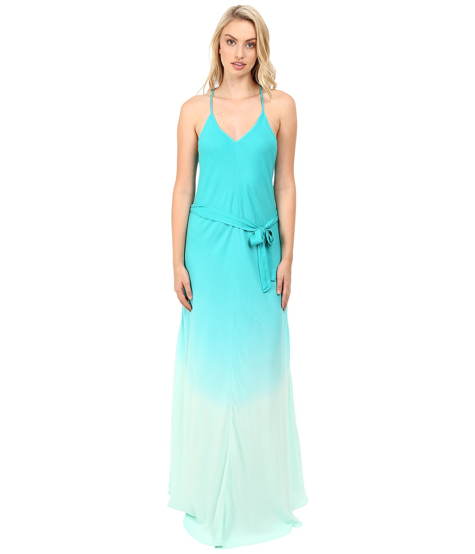 Young Fabulous & Broke - Carla Maxi (Turquoise Ombre) Women's Dress