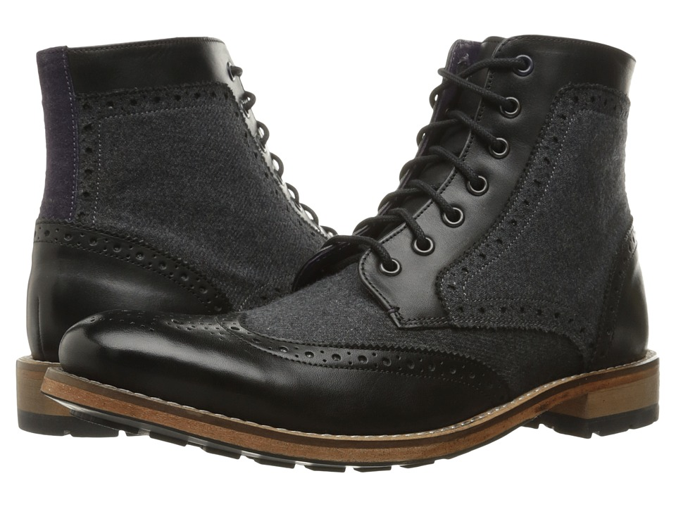 Ted Baker Sealls 3 (Black/Dark Grey Wool) Men