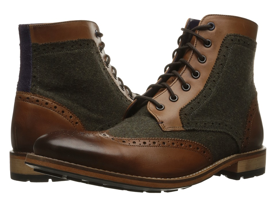 Ted Baker - Sealls 3 (Tan/Brown Wool) Men's Lace-up Boots