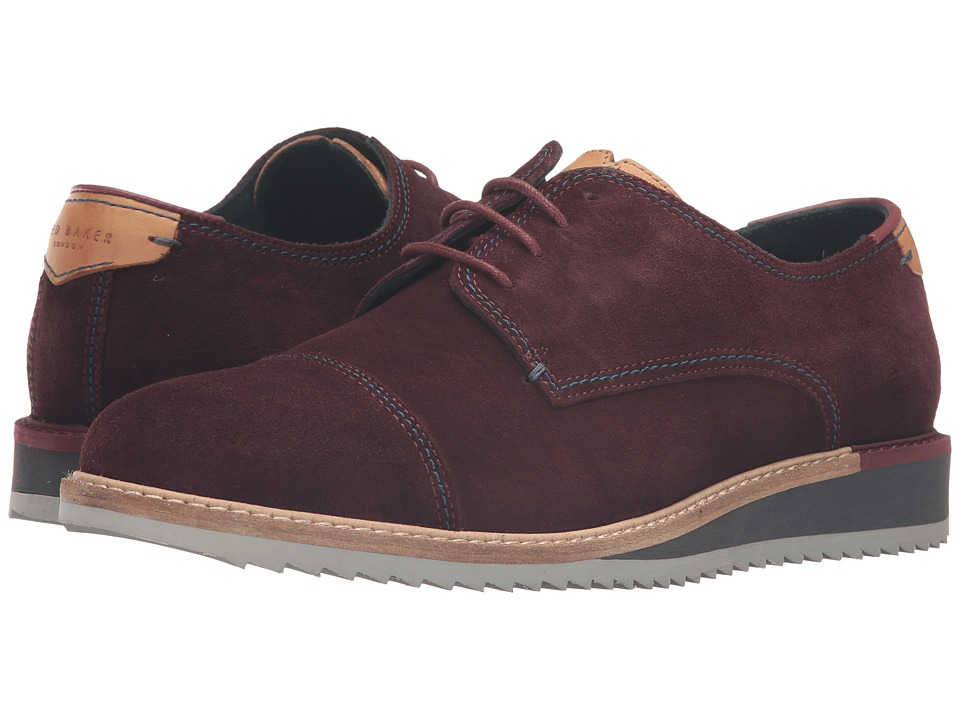 Ted Baker - Gliyne (Dark Red Waxed Suede) Men's Shoes